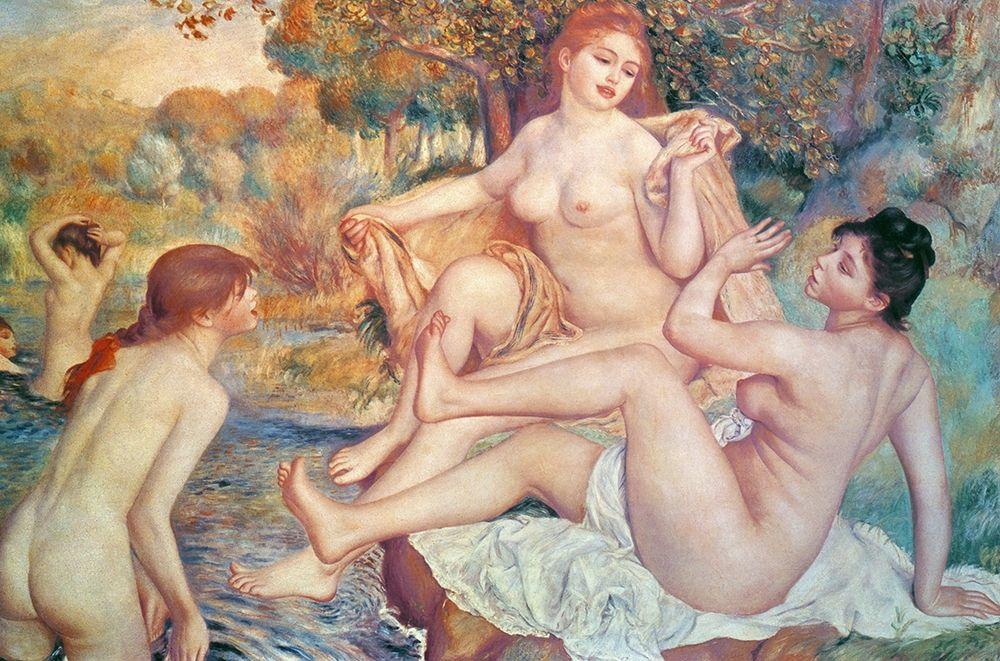 konfigurieren des Kunstdrucks in Wunschgröße Large Bathers von Renoir, Pierre-Auguste