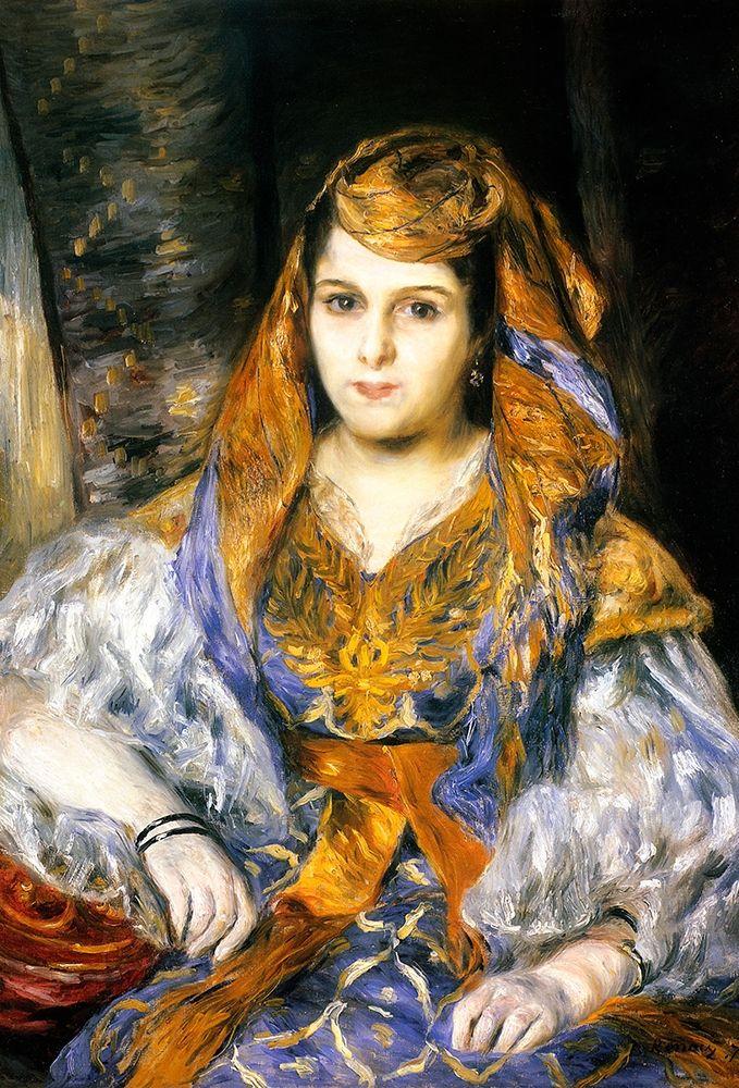 konfigurieren des Kunstdrucks in Wunschgröße Madame Clementine Stora In Algerian Dress von Renoir, Pierre-Auguste