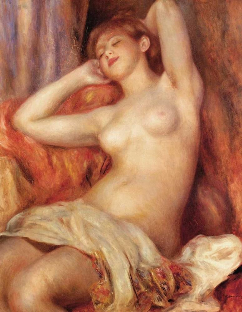 konfigurieren des Kunstdrucks in Wunschgröße Sleeping Nude von Renoir, Pierre-Auguste