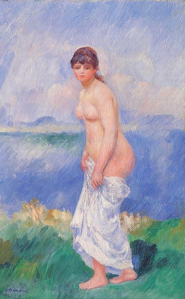 konfigurieren des Kunstdrucks in Wunschgröße Standing Bather von Renoir, Pierre-Auguste