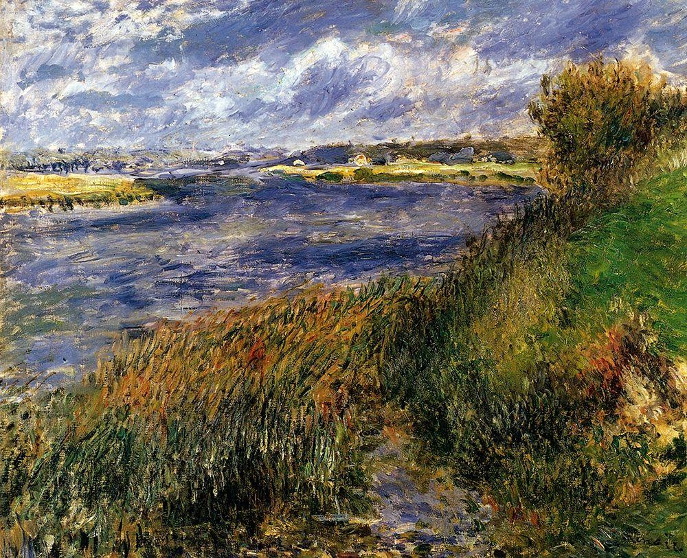 konfigurieren des Kunstdrucks in Wunschgröße The Seine At Champrosay von Renoir, Pierre-Auguste