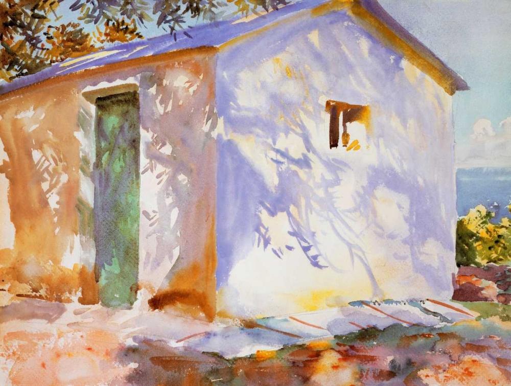 konfigurieren des Kunstdrucks in Wunschgröße Corfu, Lights and Shadows von Sargent, John Singer