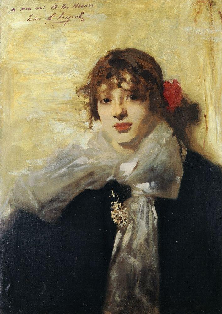 konfigurieren des Kunstdrucks in Wunschgröße Head of a Young Woman 1880-82 von Sargent, John Singer