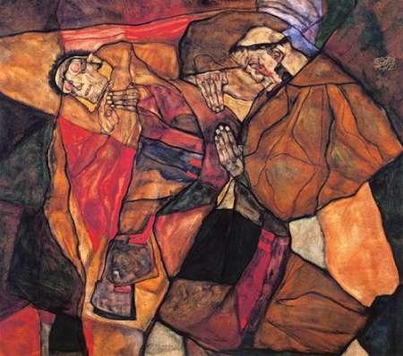konfigurieren des Kunstdrucks in Wunschgröße Agony von Schiele, Egon