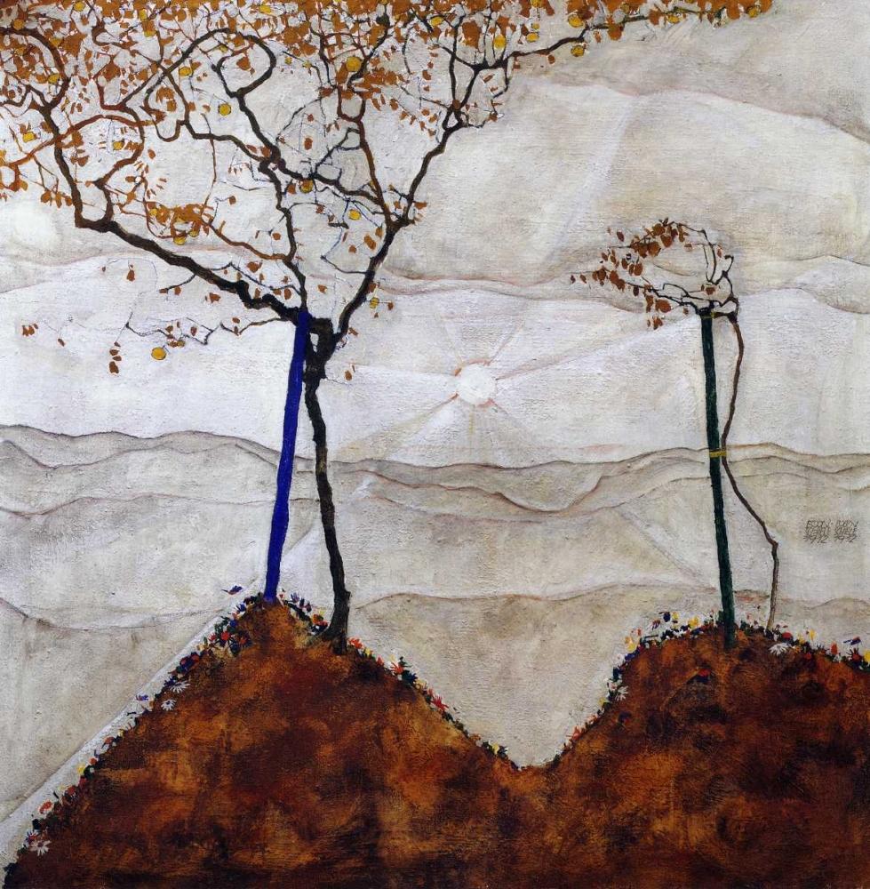 konfigurieren des Kunstdrucks in Wunschgröße Autumn Sun I von Schiele, Egon