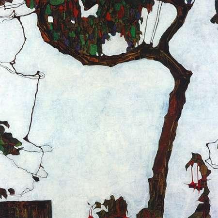 Autumn Tree With Fuchsias 1909 von Schiele, Egon <br> max. 74 x 74cm <br> Preis: ab 10€