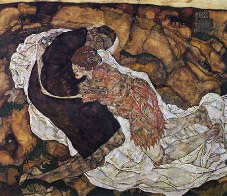 konfigurieren des Kunstdrucks in Wunschgröße Death And Maiden von Schiele, Egon