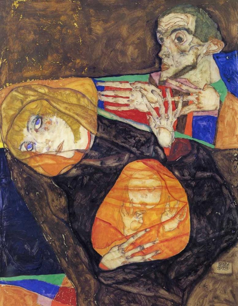 konfigurieren des Kunstdrucks in Wunschgröße Holy Family von Schiele, Egon