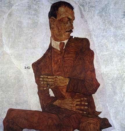 Portrait Of Arthur Roessler von Schiele, Egon <br> max. 76 x 81cm <br> Preis: ab 10€