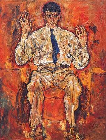 Portrait Of Painter Paris Von Gutersloh von Schiele, Egon <br> max. 69 x 91cm <br> Preis: ab 10€