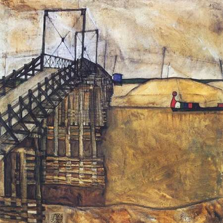 konfigurieren des Kunstdrucks in Wunschgröße The Bridge von Schiele, Egon