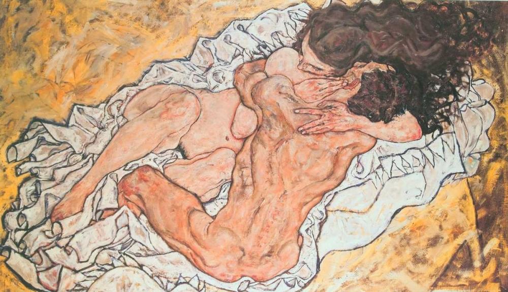 konfigurieren des Kunstdrucks in Wunschgröße Umarmung von Schiele, Egon