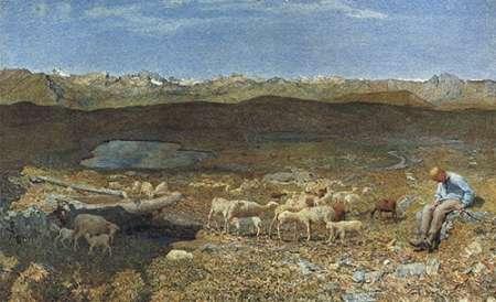 konfigurieren des Kunstdrucks in Wunschgröße Alpine Meadows von Segantini, Giovanni