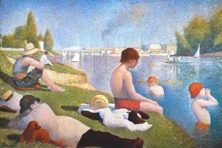 konfigurieren des Kunstdrucks in Wunschgröße Bathing At Asnieres von Seurat, Georges