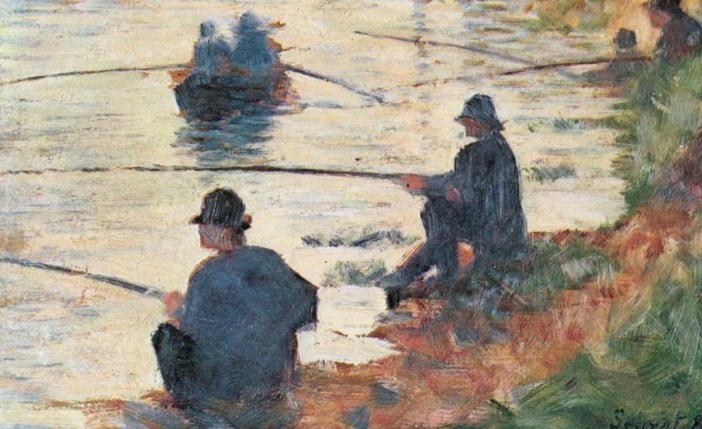 konfigurieren des Kunstdrucks in Wunschgröße Fisherman von Seurat, Georges