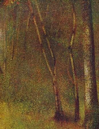 konfigurieren des Kunstdrucks in Wunschgröße In The Woods At Pontaubert von Seurat, Georges