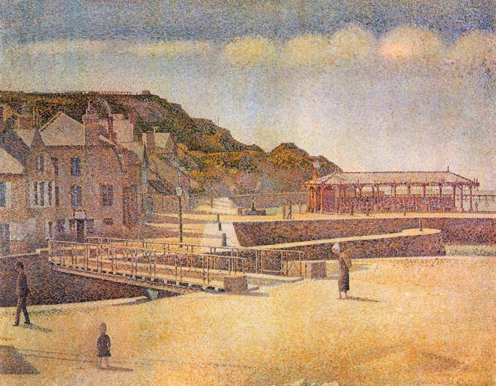 konfigurieren des Kunstdrucks in Wunschgröße Port-En Bessin 1888 von Seurat, Georges