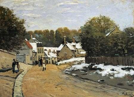 konfigurieren des Kunstdrucks in Wunschgröße Early Snow At Louveciennes von Sisley, Alfred
