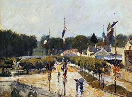 konfigurieren des Kunstdrucks in Wunschgröße Fete Day At Marly Le Roi von Sisley, Alfred