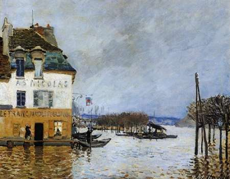 konfigurieren des Kunstdrucks in Wunschgröße Flood At Port Marly von Sisley, Alfred