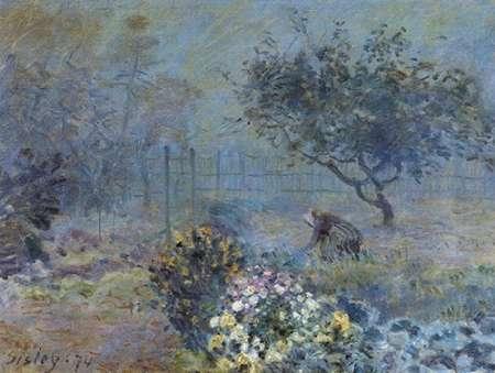 konfigurieren des Kunstdrucks in Wunschgröße Foggy Morning Voisins von Sisley, Alfred