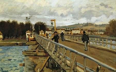konfigurieren des Kunstdrucks in Wunschgröße Footbridge At Argenteuil von Sisley, Alfred