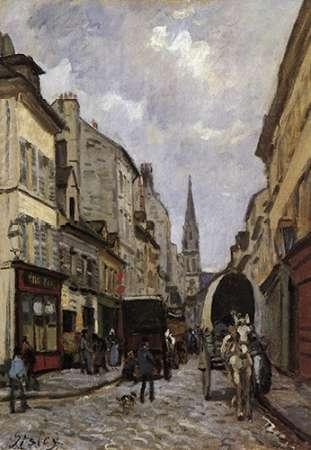 konfigurieren des Kunstdrucks in Wunschgröße La Grande Rue Argenteuil von Sisley, Alfred