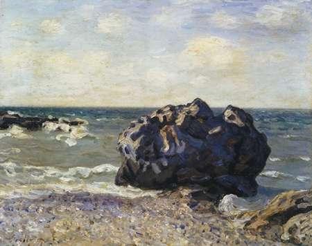 konfigurieren des Kunstdrucks in Wunschgröße Langland Bay Storrs Rock Morning von Sisley, Alfred