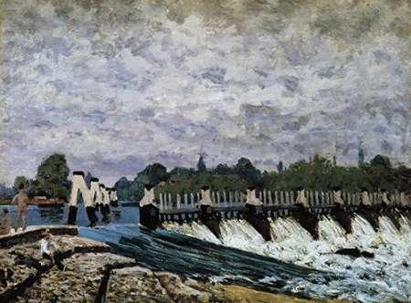 konfigurieren des Kunstdrucks in Wunschgröße Molesey Weir Morning von Sisley, Alfred