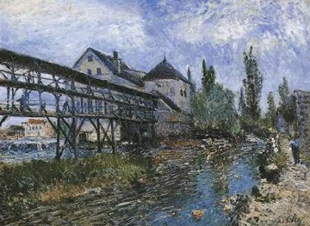konfigurieren des Kunstdrucks in Wunschgröße Provenchers Mill At Moret von Sisley, Alfred