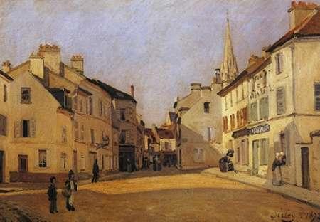 konfigurieren des Kunstdrucks in Wunschgröße Square At Argenteuil von Sisley, Alfred