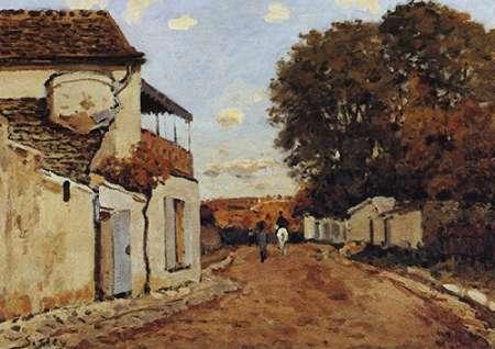 konfigurieren des Kunstdrucks in Wunschgröße Street In Louveciennes von Sisley, Alfred
