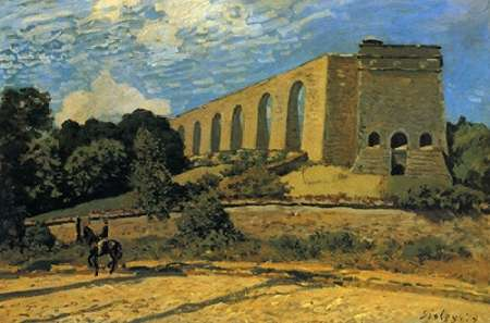 konfigurieren des Kunstdrucks in Wunschgröße The Aquaduct At Marly von Sisley, Alfred