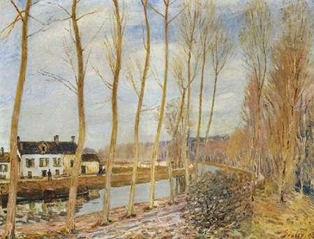 konfigurieren des Kunstdrucks in Wunschgröße The Canal Du Loing At Moret von Sisley, Alfred
