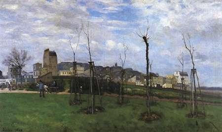 konfigurieren des Kunstdrucks in Wunschgröße View Of Montmarte From The Cite Des Fleurs von Sisley, Alfred