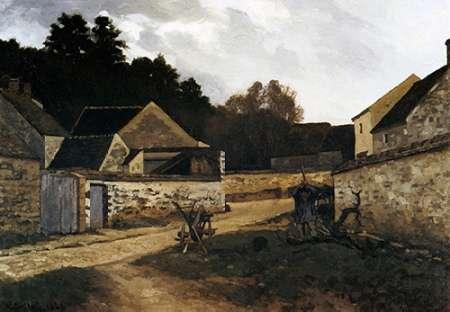 konfigurieren des Kunstdrucks in Wunschgröße Village Street In Marlotte von Sisley, Alfred