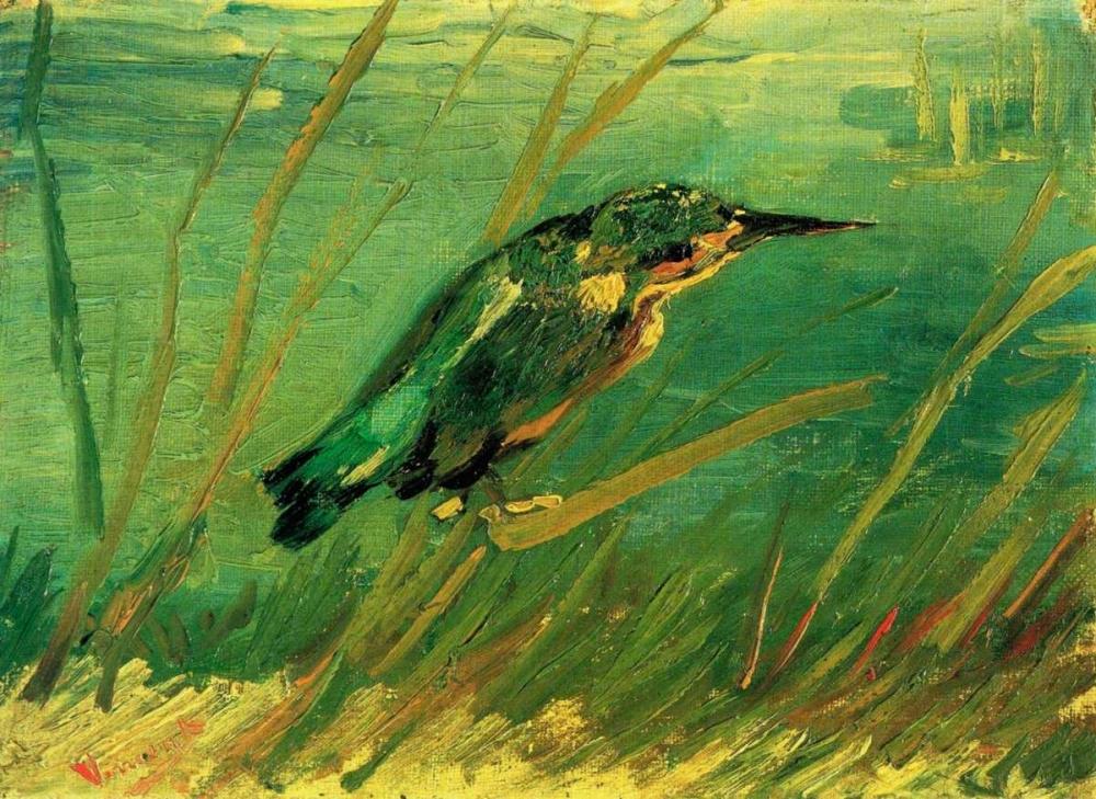 konfigurieren des Kunstdrucks in Wunschgröße Kingfisher von Van Gogh, Vincent