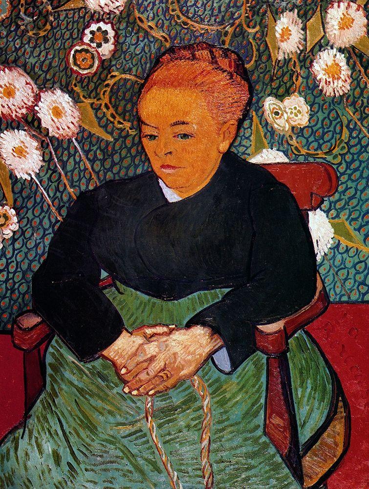 konfigurieren des Kunstdrucks in Wunschgröße La Berceuse von Van Gogh, Vincent