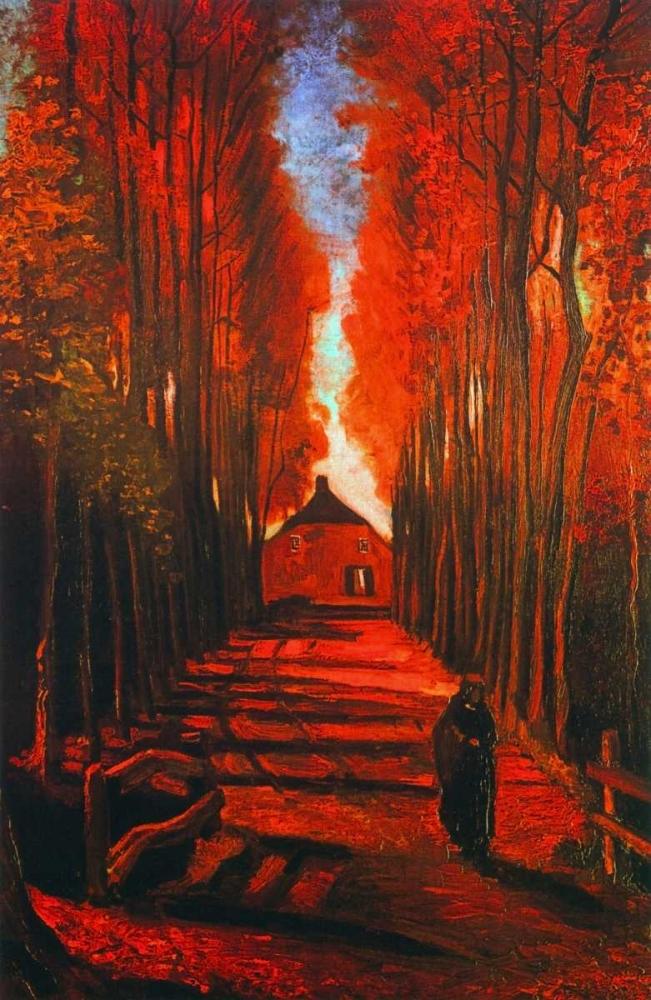 konfigurieren des Kunstdrucks in Wunschgröße Lane Autumn von Van Gogh, Vincent