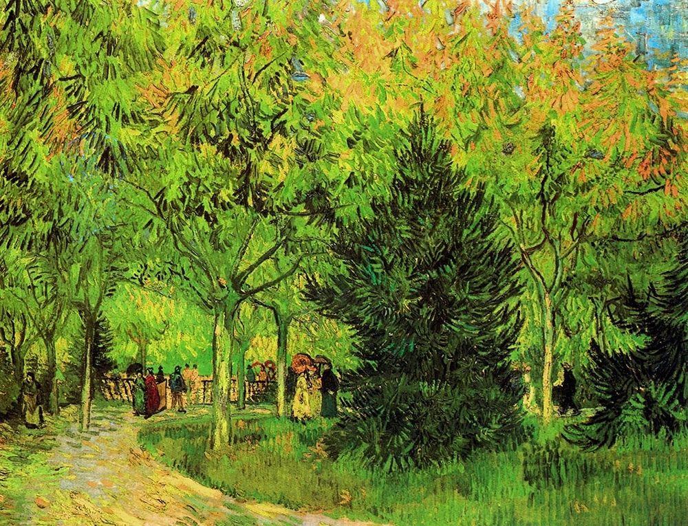 konfigurieren des Kunstdrucks in Wunschgröße Lane In Public Gardens Arles von Van Gogh, Vincent