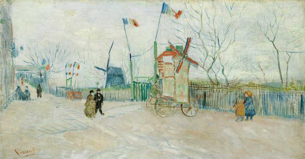 konfigurieren des Kunstdrucks in Wunschgröße Le Moulin A Poivre von Van Gogh, Vincent