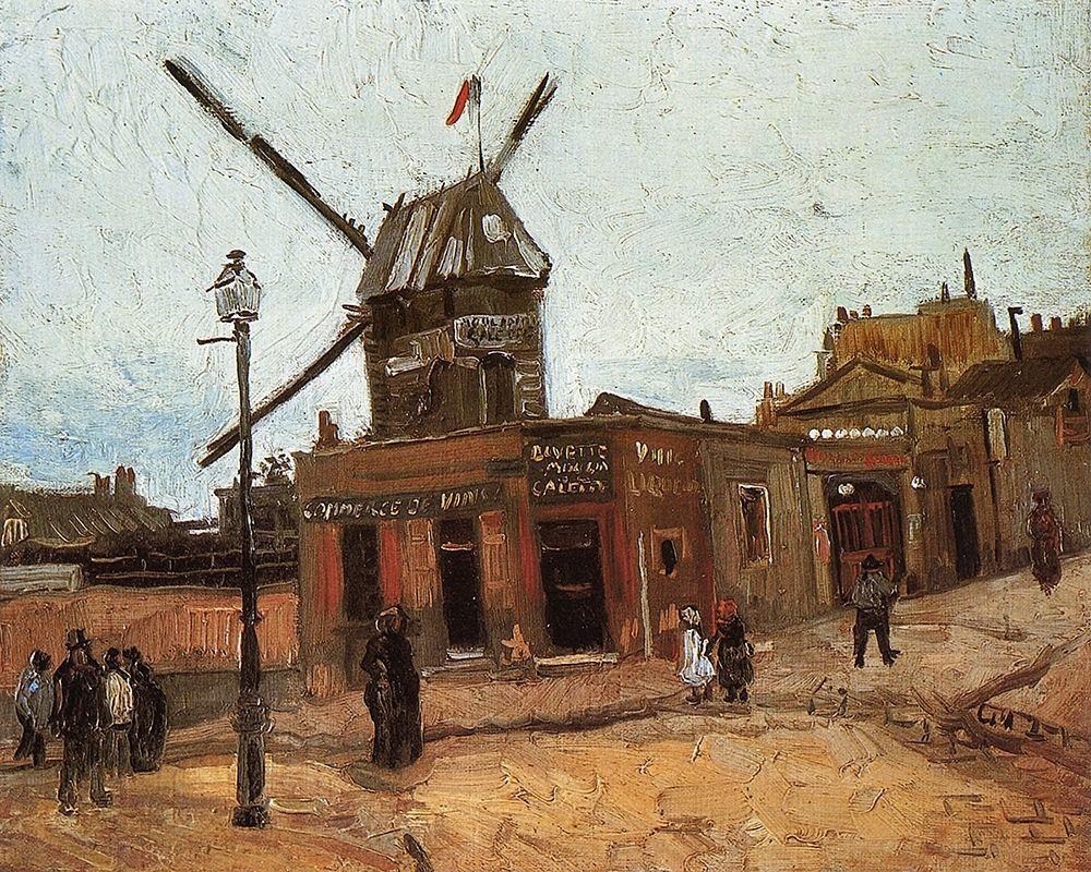 konfigurieren des Kunstdrucks in Wunschgröße Le Moulin De La Galette 2 von Van Gogh, Vincent