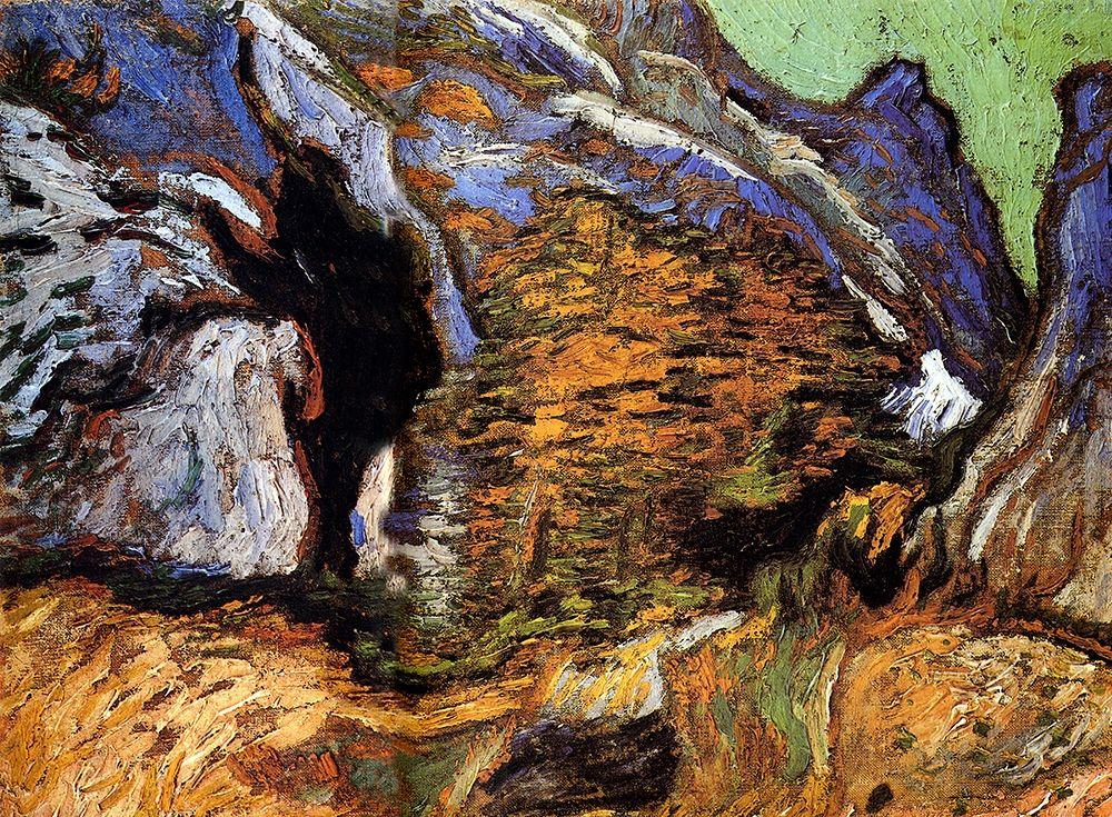 konfigurieren des Kunstdrucks in Wunschgröße Les Peiroulets Ravine von Van Gogh, Vincent