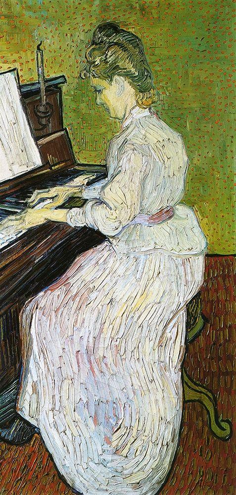 konfigurieren des Kunstdrucks in Wunschgröße Marguerite Gachet At Piano von Van Gogh, Vincent