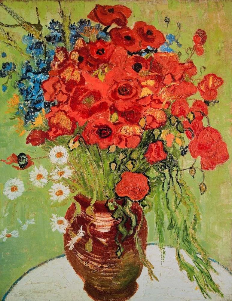 konfigurieren des Kunstdrucks in Wunschgröße Marguerites et coquelicots von Van Gogh, Vincent