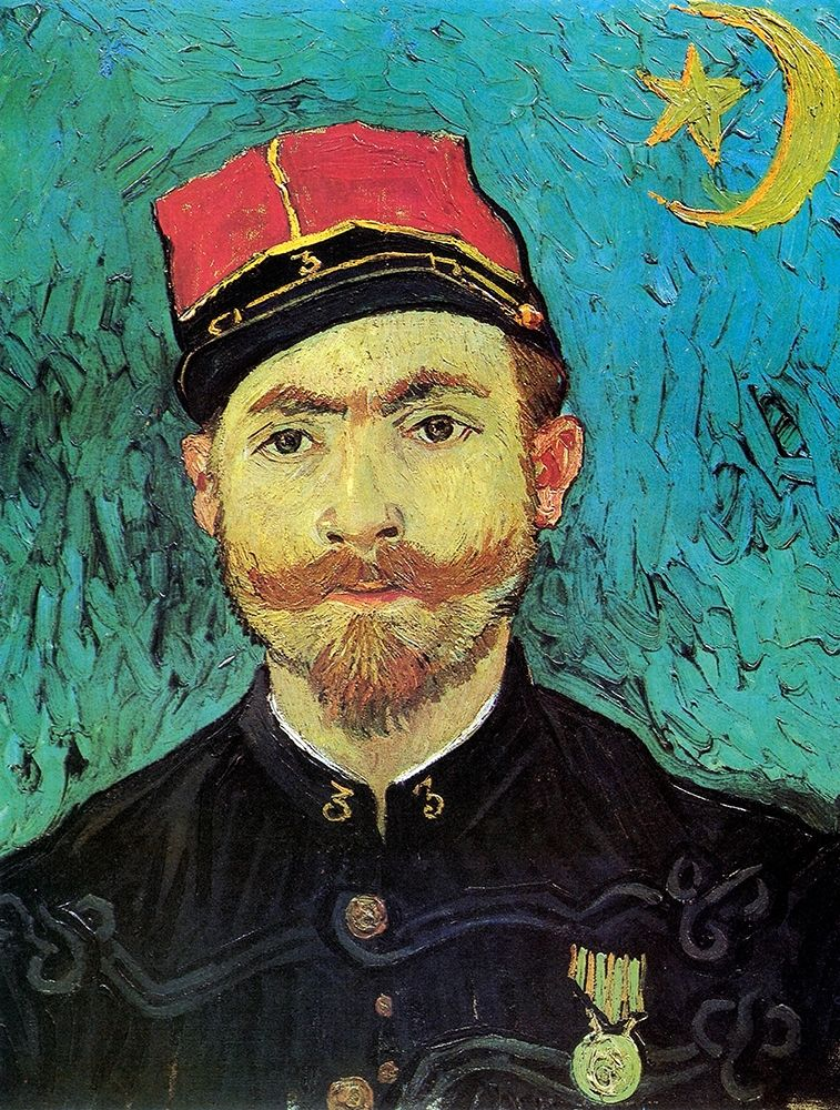 konfigurieren des Kunstdrucks in Wunschgröße Milliet 2nd Lt Zouaves von Van Gogh, Vincent