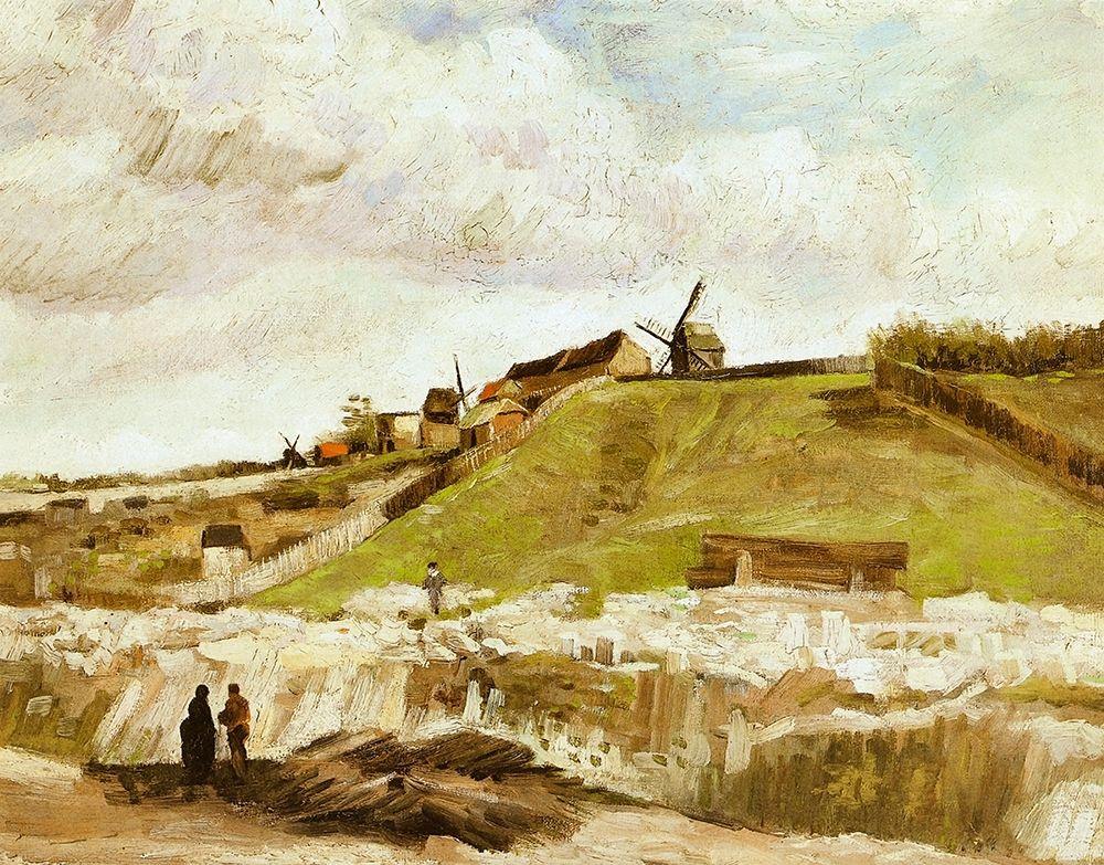 konfigurieren des Kunstdrucks in Wunschgröße Montmartre Quarry Mills von Van Gogh, Vincent