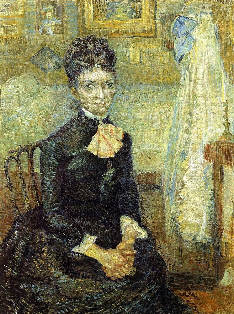 konfigurieren des Kunstdrucks in Wunschgröße Mother By Cradle von Van Gogh, Vincent