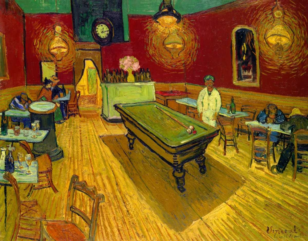 The Night Cafe, 1888 von Van Gogh, Vincent <br> max. 145 x 114cm <br> Preis: ab 10€