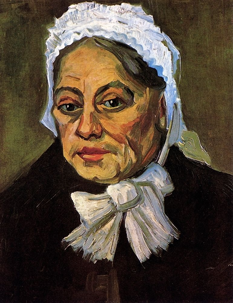 konfigurieren des Kunstdrucks in Wunschgröße Old Woman White Cap von Van Gogh, Vincent